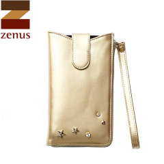 Zenus Synthetic Leather Pouch for Samsung Galaxy S5 - Gold