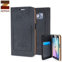 Zenus Tesoro Diary Samsung Galaxy S6 Leather Wallet Case - Black