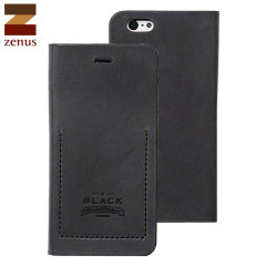 Zenus Tesoro iPhone 6 Leather Diary Case - Black