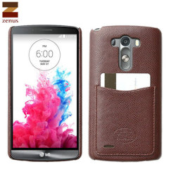 Zenus Vino Italian Faux Leather LG G3 Case - Wine