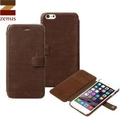 Zenus Vintage Diary iPhone 6 Plus Case - Brown
