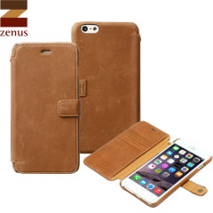 Zenus Vintage Diary iPhone 6 Plus Case For - Tan