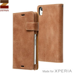 Zenus Vintage Diary Sony Xperia Z3 Case - Dark Brown