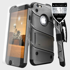 Zizo Bolt Series iPhone 6S / 6 Tough Case & Belt Clip - Steel
