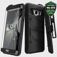 Zizo Bolt Series Samsung Galaxy Note 7 Tough Case & Belt Clip - Black