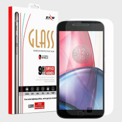 Zizo LightningShield Moto G4 Plus Tempered Glass Screen Protector