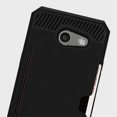 Zizo Metallic Hybrid Card Slot Samsung Galaxy J3 2017 Case - Black