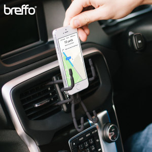 The Multi-Award winning Spiderpodium from Breffo features flexible legs which allow for secure mounting on all platforms, no matter what your mobile device. The Spiderpodium's intuitive design gives you the freedom to keep your smartphone safe in the car.