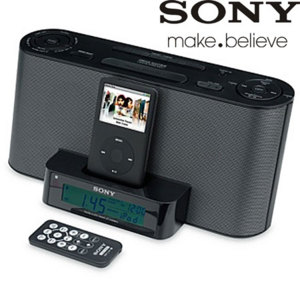 sony icf c1ip ipod iphone alarm clock radio reviews comments. Black Bedroom Furniture Sets. Home Design Ideas
