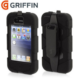 Coque iPhone 4S / 4 Griffin Survivor - Noire