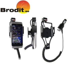 Charge and use your Nokia E7 safely in your vehicle with this Brodit active holder with tilt swivel.