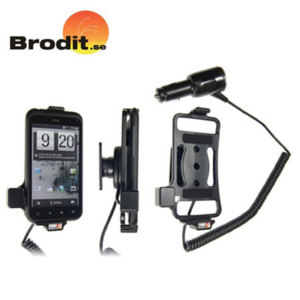 Charge and use your HTC Incredible S safely in your vehicle with this Brodit active holder with tilt swivel.