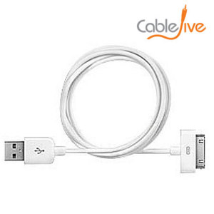 Sync and Charge your Apple 30 pins devices from a greater distance with this 2M Sync and Charge Cable.