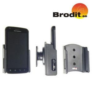 Utilisez votre Motorola Atrix  en toute sécurité dans votre véhicule avec le petit et discret Support Brodit Passive.