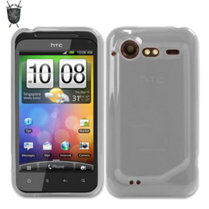 Crystal case like protection with the durability of a silicone case for the HTC Incredible S in clear.
