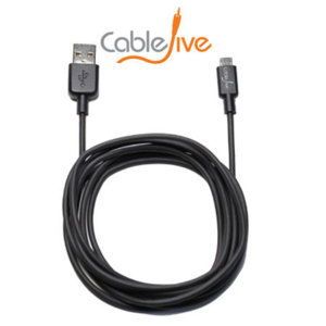 Sync and charge your Micro USB devices from a greater distance with this black 2M sync and charge cable.