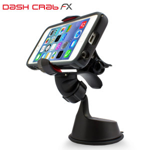 Universally compatible, the Dash Crab FX in car holder features adjustable jaws that can accommodate phones with or without cases up to 11.5cm in width.