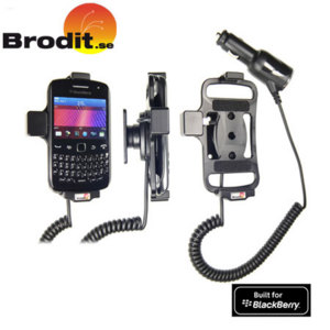 Charge and use your BlackBerry Curve 9360 safely and legally in your vehicle with this Brodit active holder with tilt swivel.