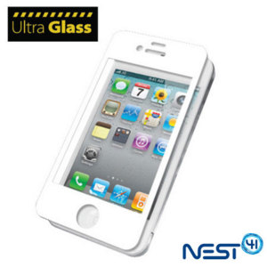 Protection d'écran iPhone 4S / 4 UltraGlass - Blanche