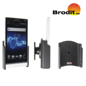 Use your Sony Xperia S safely in your vehicle with this small, neat and discreet Brodit Passive holder.