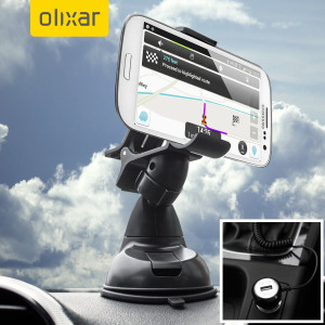 Essential items you need for your smartphone during a car journey all within the Olixar DriveTime In-Car Pack. Featuring a robust one-handed mounting phone car holder and car charger with additional USB port for your Samsung Galaxy S3.