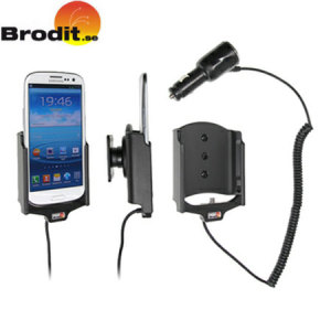 Charge and use your Samsung Galaxy S3 in your vehicle with this Brodit active holder with tilt swivel.