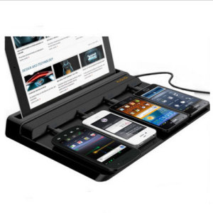 Charge your smartphone and tablet at the same time with this universal charger dock.
