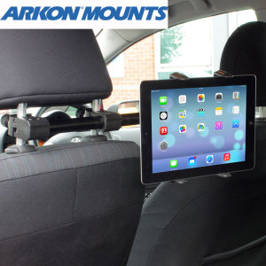 "This innovative holder will fit any 7"" - 12"" tablet allowing easy positioning of tablets in order to watch movies or play games while sitting comfortably in the back seat."