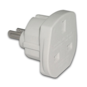 Use your UK mains plugged devices safely in North America and Australia with this UK to USA and Australia Mains Plug Adaptor.