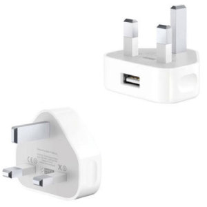 With this official UK mains charger, you can keep your Lightning compatible iPhone battery topped up at home - in white.