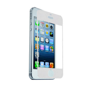 Protect your iPhone 5S / 5's screen with this 100% bubble free anti-glare screen protector in white.