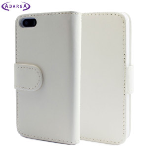 Funda iPhone 5S / 5 Adarga Leather Estilo Cartera - Blanca