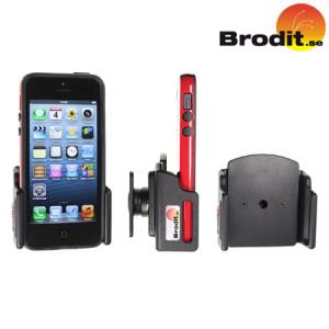 Use su iPhone 5S / 5 de forma segura en su vehículo con el soporte coche pivotante Brodit Passive compatible con fundas.