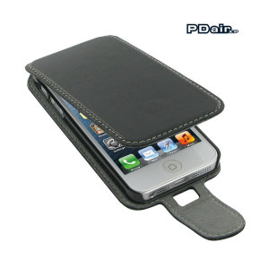 Stylish Leather Case for Apple iPhone 5S / 5 Flip Type With Clip with removable 360 degrees belt clip included.