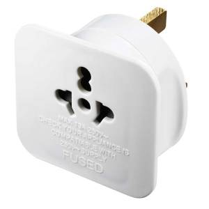 Masterplug US to UK Travel Adapter - White