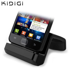 Synchronise and charge your Micro USB compatible smartphone with this stylish and case compatible desktop dock which also acts as a multimedia stand from Kidigi.