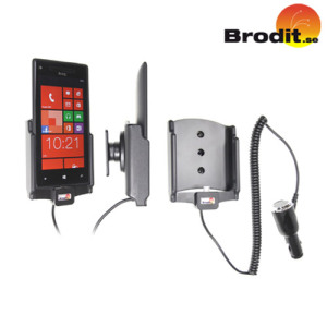 Charge and use your HTC 8X safely in your vehicle with this Brodit Active Holder with Tilt Swivel.