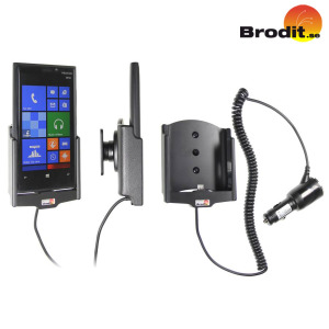 Charge and use your Nokia Lumia 920 safely in your vehicle with this Brodit Active Holder with Tilt Swivel.