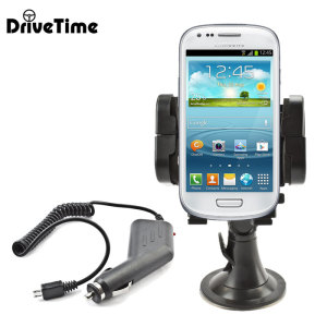 Hold your phone safely in your car with this fully adjustable DriveTime car holder for your Samsung Galaxy S3 Mini.