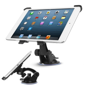 Fixed securely to your windscreen, this iPad Mini 3 / 2 / 1 car holder is a strong and fully adjustable mounting solution which can also be used as a desk stand.