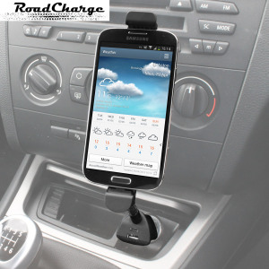Hold and charge virtually any Samsung or LG smartphone with a Micro USB connection. Secure and convenient, the RoadCharge Car Holder includes an integrated secondary USB charging port.