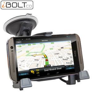 Sujete y cargue sus smartphones HTC con seguridad con este soporte de coche xProDock de iBolt.