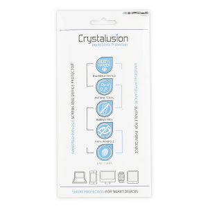 Using liquid nanotechnology to protect your smartphone and tablet, the Crystalusion Liquid Glass provides a resistive layer that protects coated surfaces from dirt, oil, dust, abrasion and bacteria for up to 12 months.