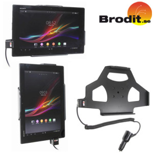Charge and use your Sony Xperia Tablet Z safely in your vehicle with this Brodit active holder with tilt swivel.