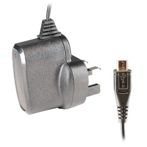 Universal 1 Amp Micro USB Mains Adapter - UK Plug