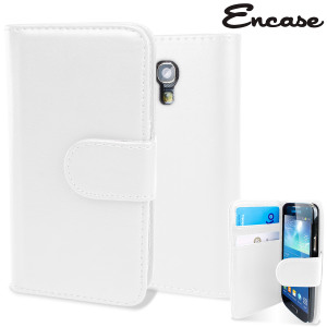 Keep your S4 Mini protected in this stylish white leather style wallet case.
