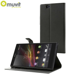 muvit sony xperia z ultra stick n 39 stand case black reviews comments. Black Bedroom Furniture Sets. Home Design Ideas