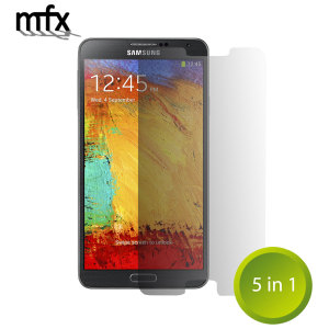 Keep your Galaxy Note 3's screen in pristine condition with this 5-in-1 MFX scratch resistant screen protector pack.