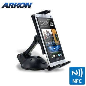 "Arkon's IntelliGrip NFC Powered Car holder provides a strong, unobtrusive grip for use with phones and 7 to 9"" tablets."