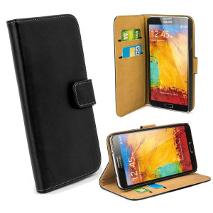 Housse Samsung Galaxy Note 3 Portefeuille style cuir - Noire
